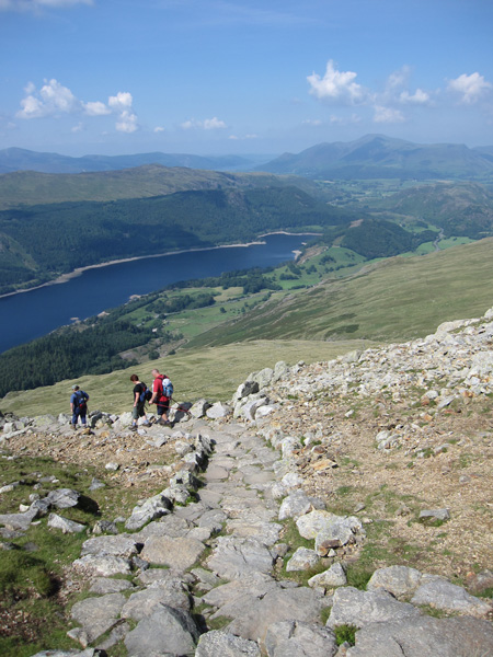 Thirlmere below and Skiddaw in the distance