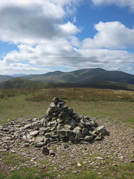 Great Calva on the far left and the Skiddaw fells from Knott's summit