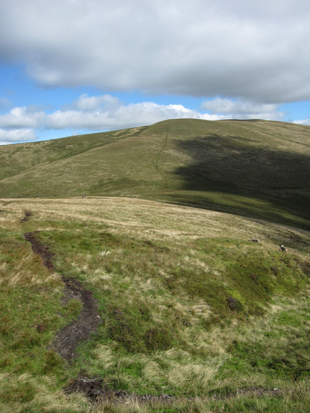 Looking back to Knott as we start our ascent of Great Calva