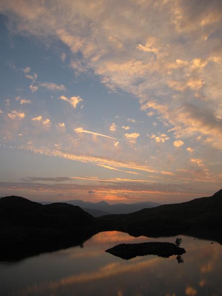 Angle Tarn sunset