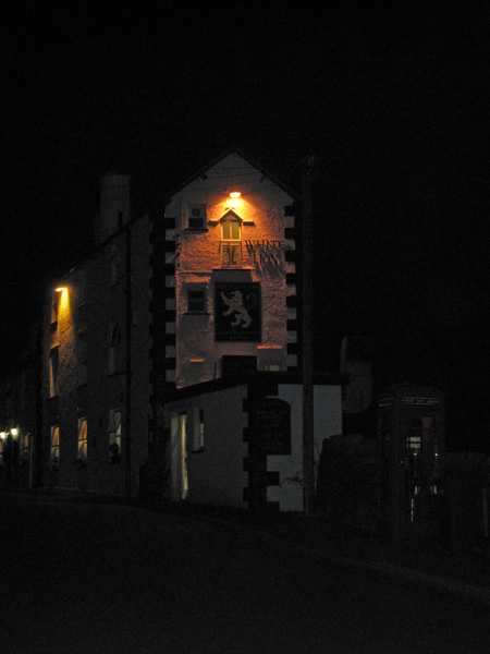 White Lion, Patterdale, just after 9pm