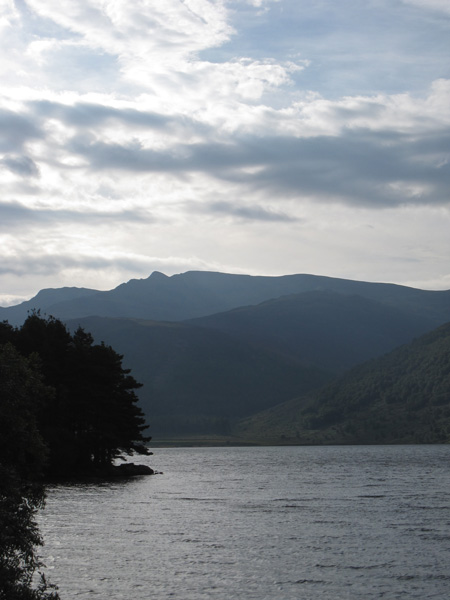 Steeple, today's target, is the pointed fell on the skyline, seen here across Ennerdale Water
