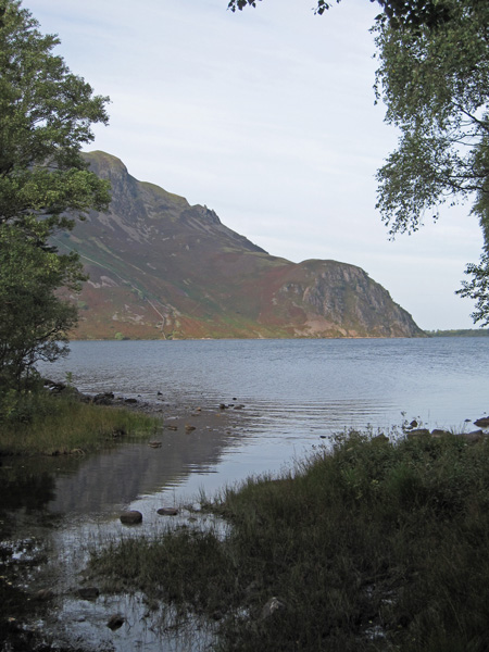 Crag Fell and Anglers' Crag on the far side of Ennerdale Water