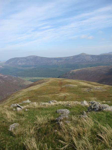 Great Borne and Starling Dodd from about three quarters of the way up Caw Fell's north ridge