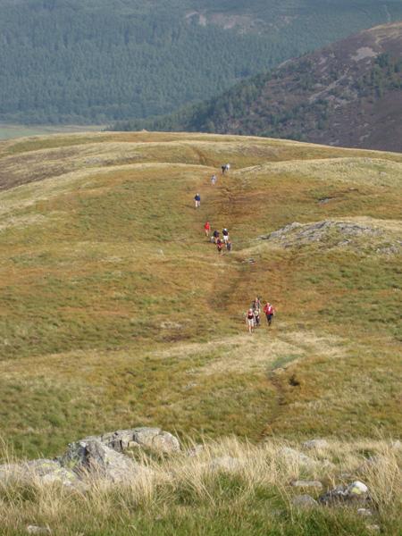 Ascending the ridge