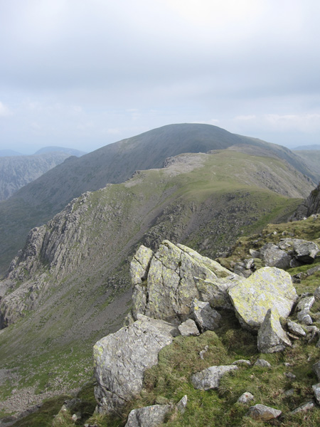 Black Crag with Pillar behind from Scoat Fell's summit