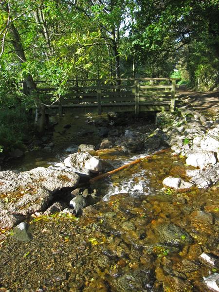 Ford and footbridge at Rakefoot