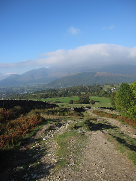 The Skiddaw fells from above Rakefoot