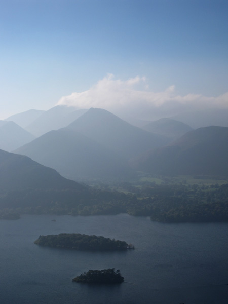 Across Derwent Water to Causey Pike