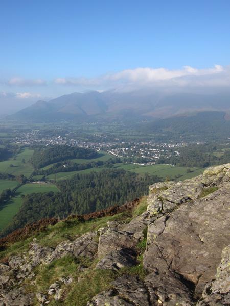 Keswick and the Skiddaw fells from Walla Crag