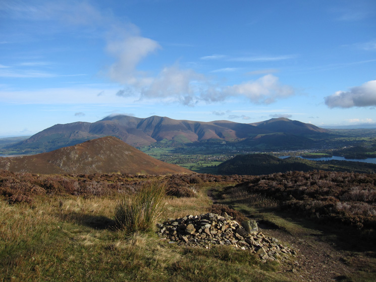 The Skiddaw fells and Blencathra from Sleet Hause