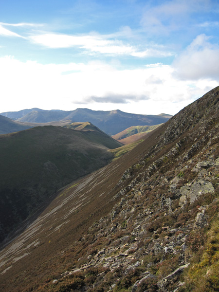 Ard Crags and Knott Rigg with the High Stile ridge beyond
