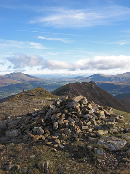 Looking back to Causey Pike from Scar Crags summit