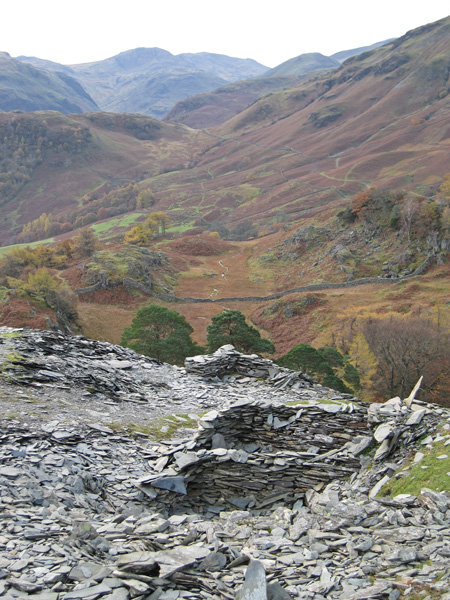 The view up Borrowdale to Great End