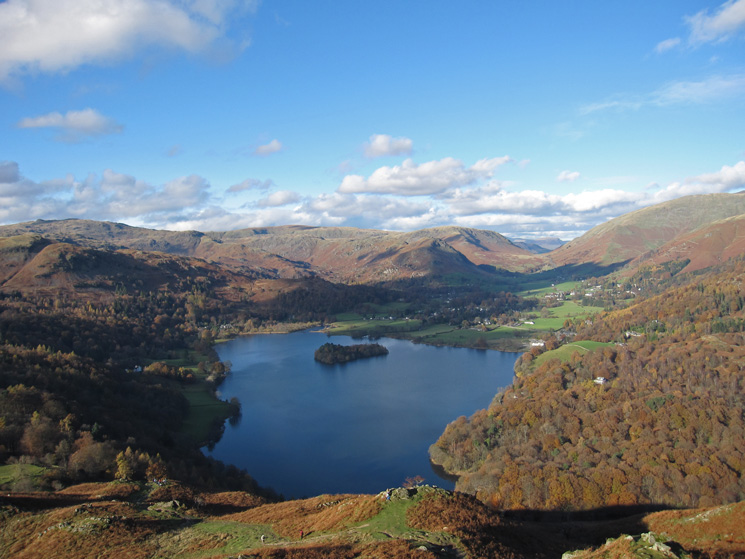 Grasmere from high up on Loughrigg Fell