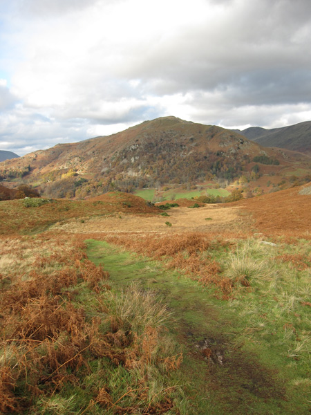 Nab Scar as we descend to Loughrigg Cave