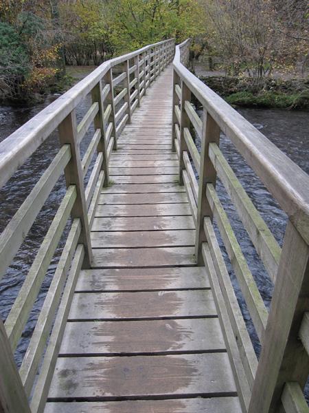 Footbridge across the River Rothay