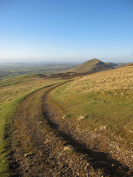 Looking back towards Dufton Pike