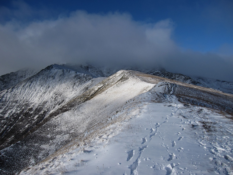 Looking up Scales Fell to Blencathra