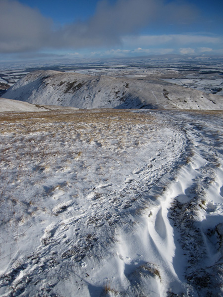 Souther Fell as we return down Scales Fell
