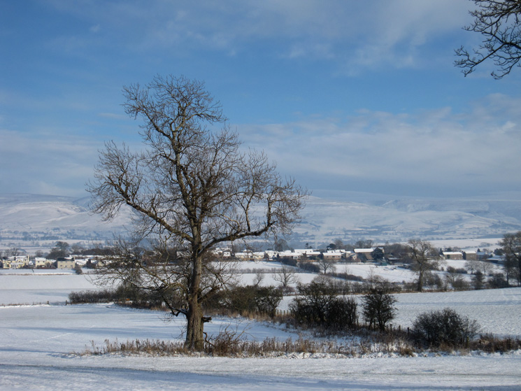 Bolton village in the distance