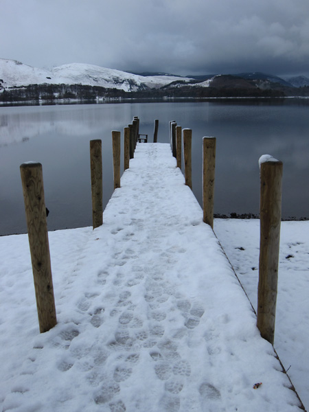 The landing stage at Ashness Gate