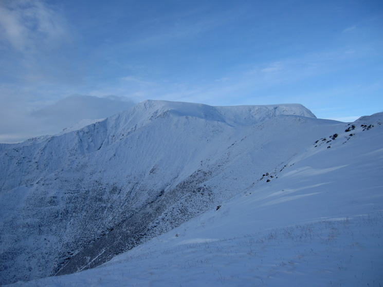 Looking up Scales Fell to Blencathra's summit