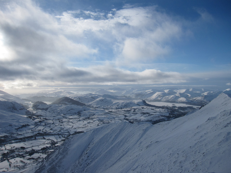 South west from Blencathra's summit