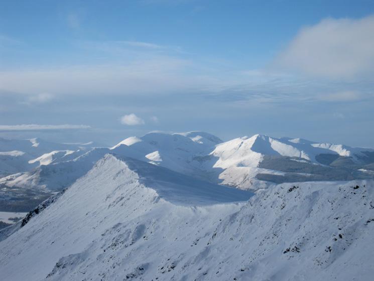 Gategill Fell Top and the north western fells