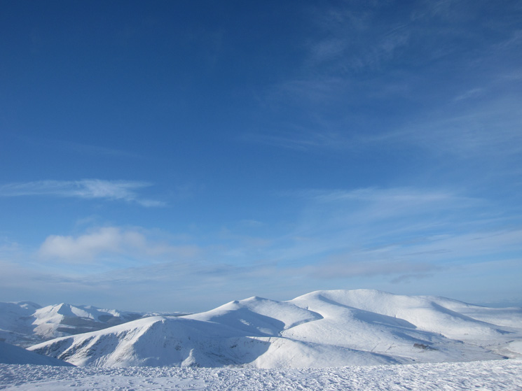 Grisedale Pike and the Skiddaw fells from Atkinson Pike