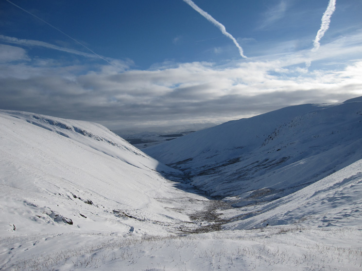 The valley of the River Glenderamackin, my descent route can be seen on the left side