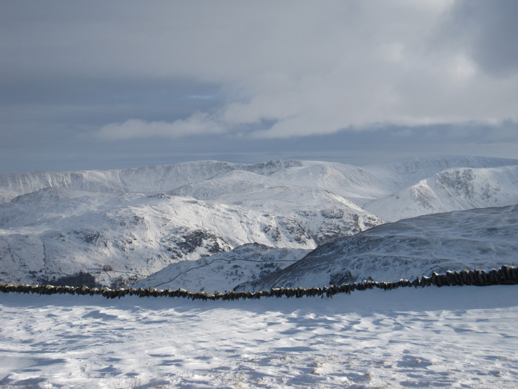 Looking across to the far eastern fells