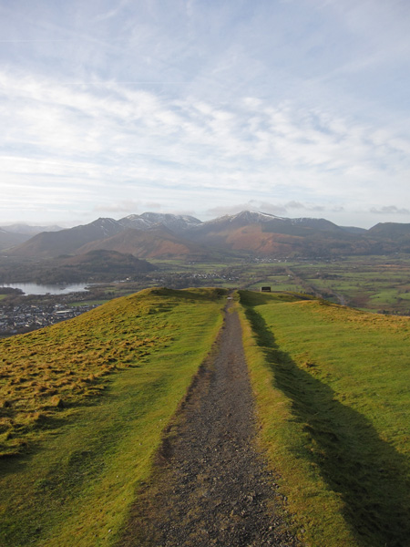 The Latrigg Seat and the north western fells