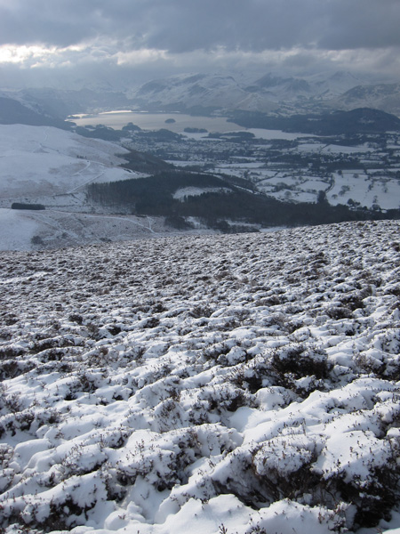 Looking down on Derwent Water and Keswick