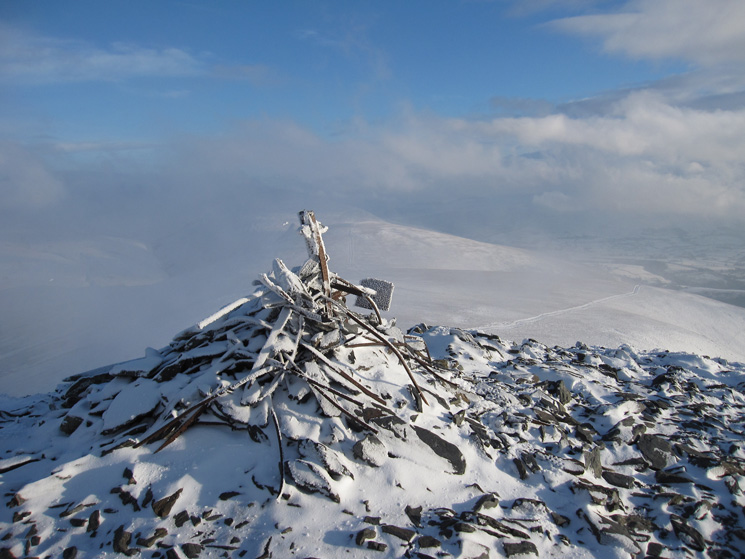 The cairn on Lesser Man