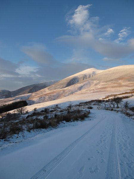 Skiddaw Little Man from the top of Gale Road
