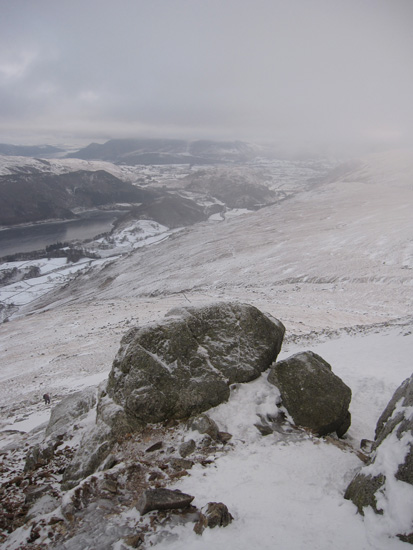 View from 'Swirls Gate' as I enter the cloud