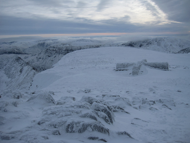 The view south east from Helvellyn's summit