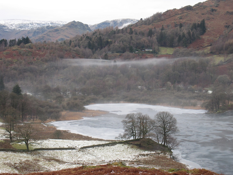 Looking over Rydal Water to Helm Crag