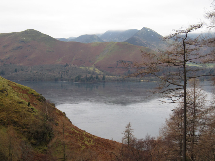 Looking out of Cat Gill to the north western fells