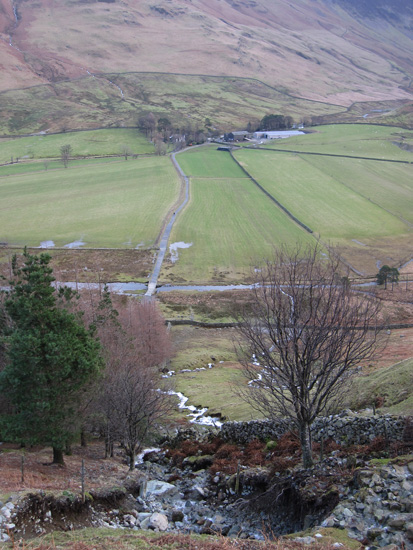 Looking back to Gatesgarth from above the landslip