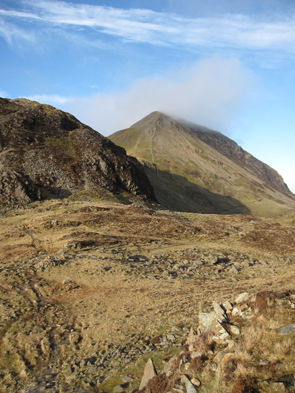 Looking across Scarth Gap to Seat (left) and High Crag (right)