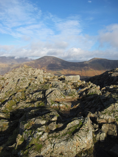 Haystacks summit, looking towards Robinson
