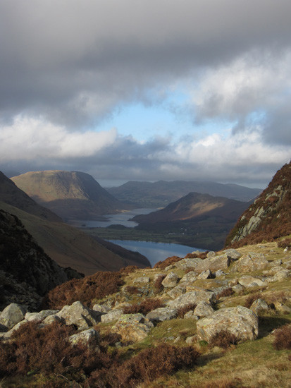 The Buttermere valley from near the outflow of Blackbeck Tarn
