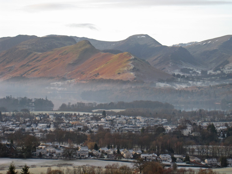 Over Keswick to Catbells