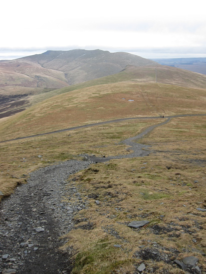 Looking back to Lonscale Fell (with Blencathra behind) from the path up Lesser Man