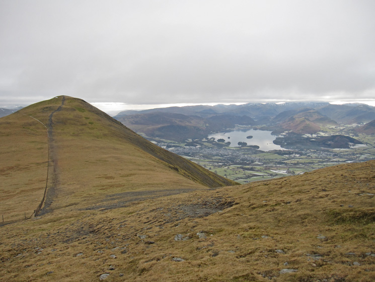 Looking back to Little Man from our route up Skiddaw