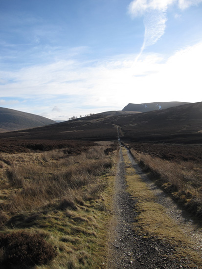 The track to Skiddaw House