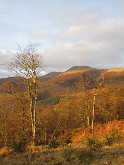 Afternoon sun on Skiddaw and Little Man