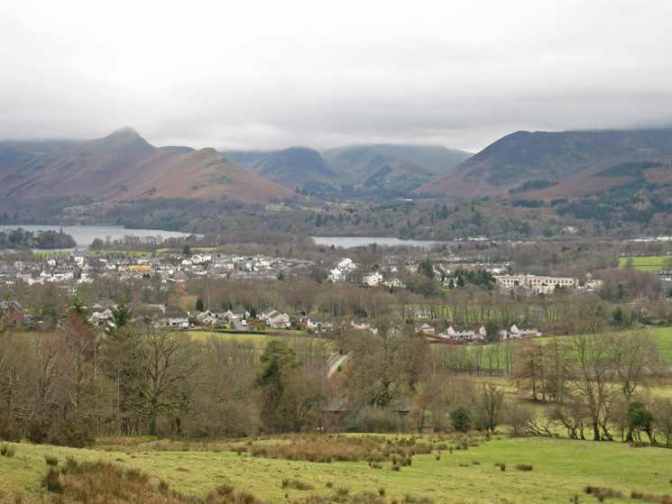 Over Keswick and Derwent Water to Catbells